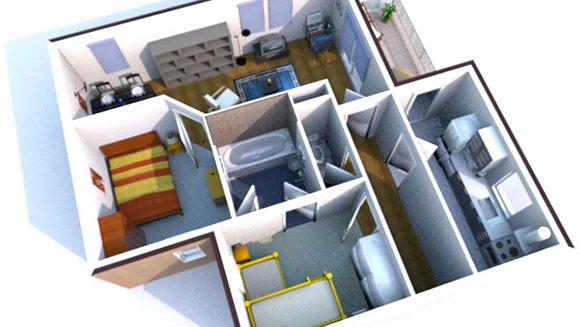 Design een 3d interieur pcm for Programma progettazione interni 3d