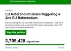 Bots ontregelen petitie voor tweede Brexit-referendum
