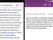 Splitscreen-ondersteuning voor OneNote op Android