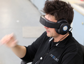 De 'Glyph' is een virtual reality-koptelefoon - of andersom