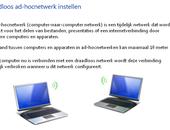 Snel een ad hoc netwerk opzetten