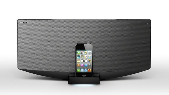 Sony CMT-V50ip: speakerdock met magnetische vloeistof