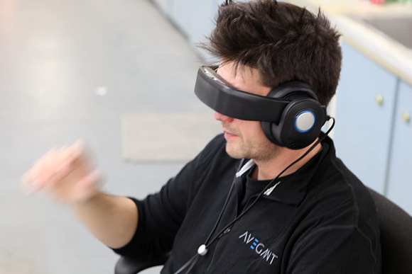 De 'Glyph' is een virtual reality-koptelefoon - of andersom
