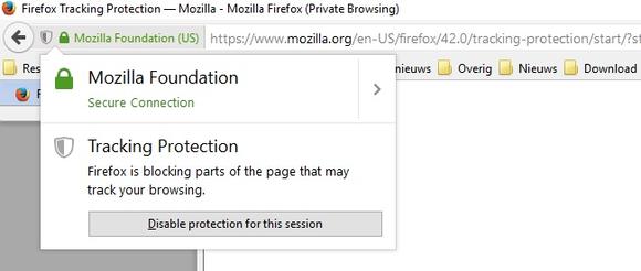 Mozilla brengt Firefox 42 uit met ingebouwde tracker-blokkering