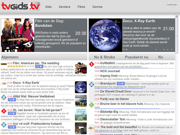 TVGids.tv nu ook met normale website