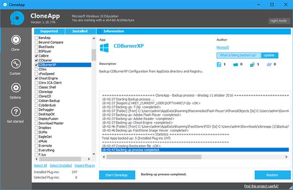 Systeem klonen met CloneApp en CloneZilla