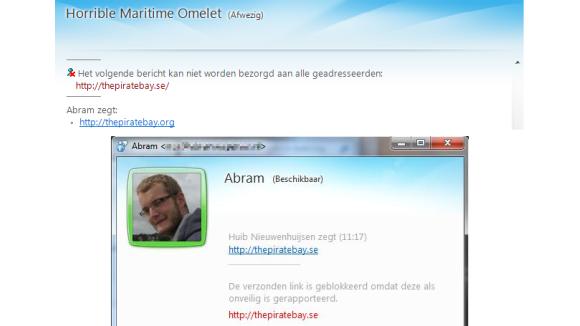 Microsoft blokkeert The Pirate Bay