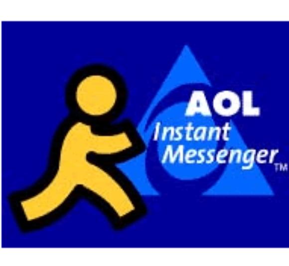Aol instant messenger logo.