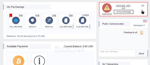 Ransomware Spora biedt ontsleuteling in professionele interface