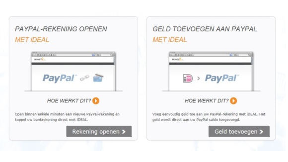 PayPal opwaarderen via iDEAL