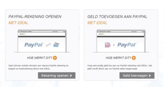 PayPal opwaarderen via iDEAL