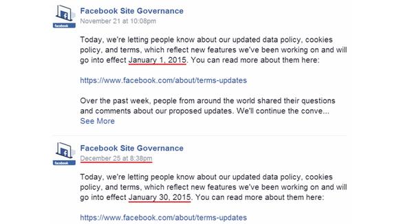 Facebook stelt wijzigen van privacyregels uit