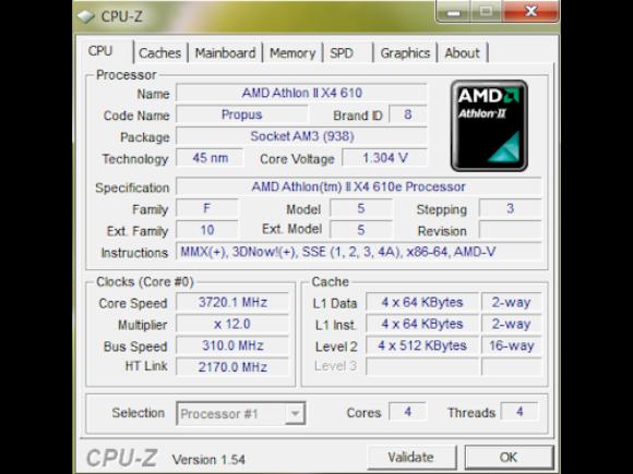 Athlon II X4 610e