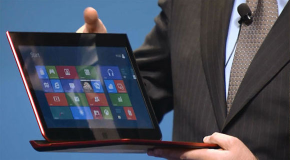 Intel prototype slider ultrabook met Windows 8