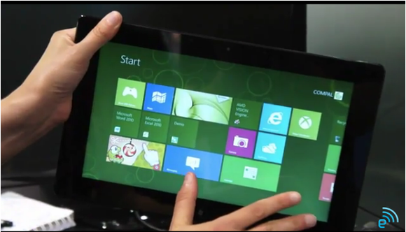 AMD toont concept Windows Tablet