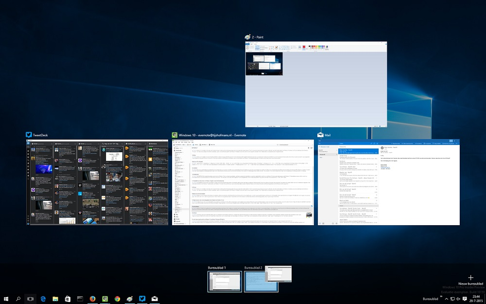 Werken met virtuele bureaubladen in windows 10 pcm for Windows 7 bureaublad